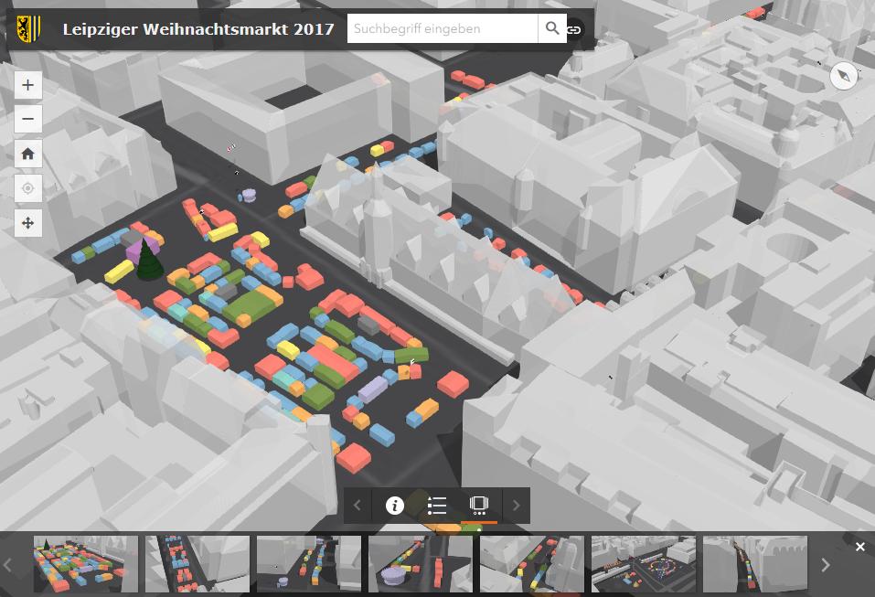 Der Leipziger Weihnachtsmarkt in 3D | Stadt Leipzig, Amt für Geoinformation und Bodenordnung