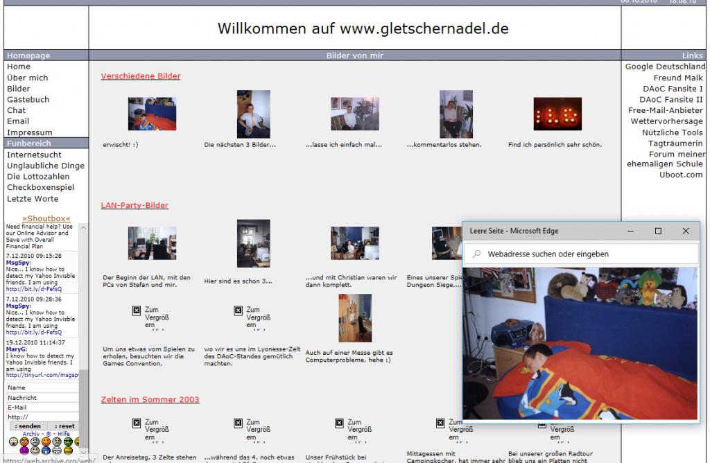 Bildergalerie von gletschernadel.de am 05.12.2004 | archive.org