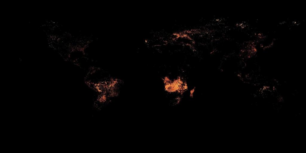 Aktive Brände im August 2016   Reto Stockli, NASA's Earth Observatory Team